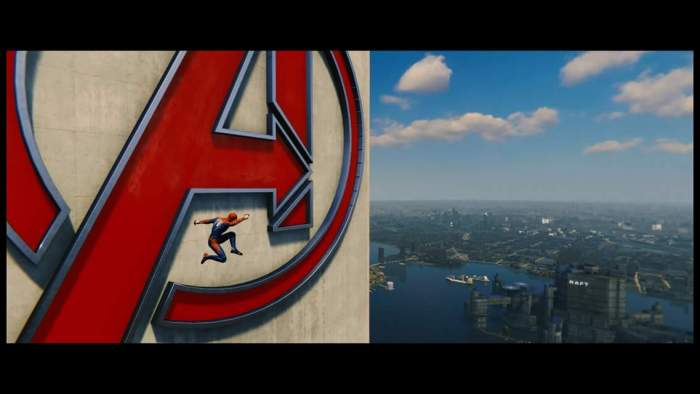 Spider-Man (PS4) Avengers Tower Jumping